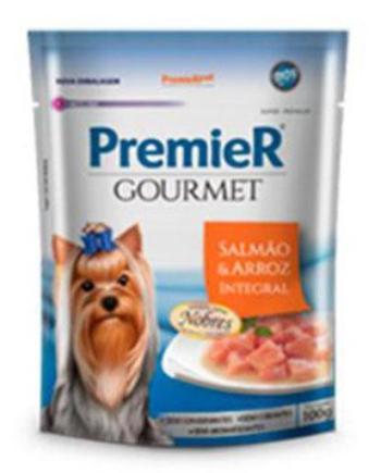 Premier Gourmet Cães Adultos Salmão & Arroz Integral 100grs
