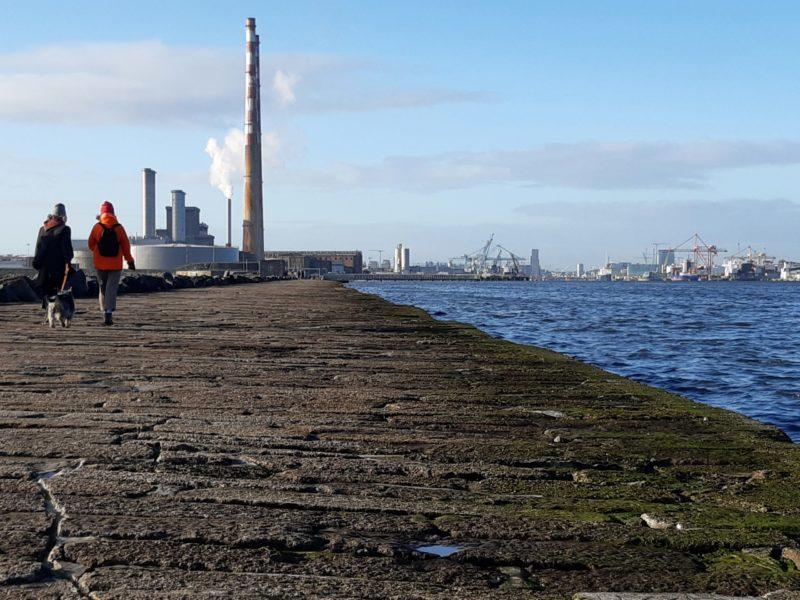 Digue cheminées port de Dublin