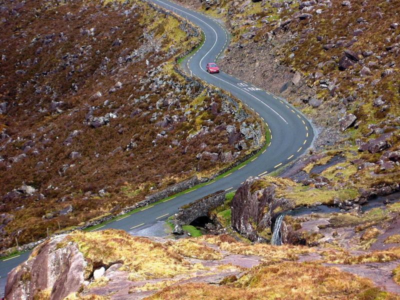 Route de Conor pass Dingle Irlande