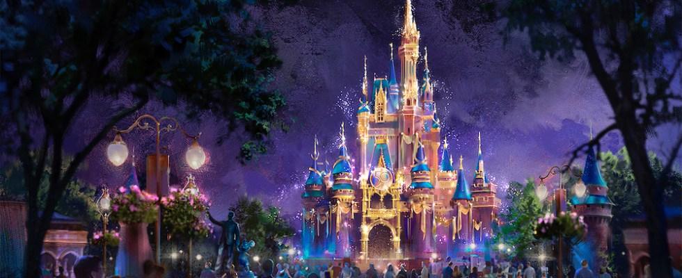 Château Magic Kingdom 50 ans de Walt Disney World