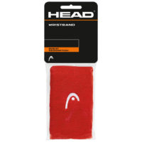 Head Double Wristbands 5″ x 2 (Red)