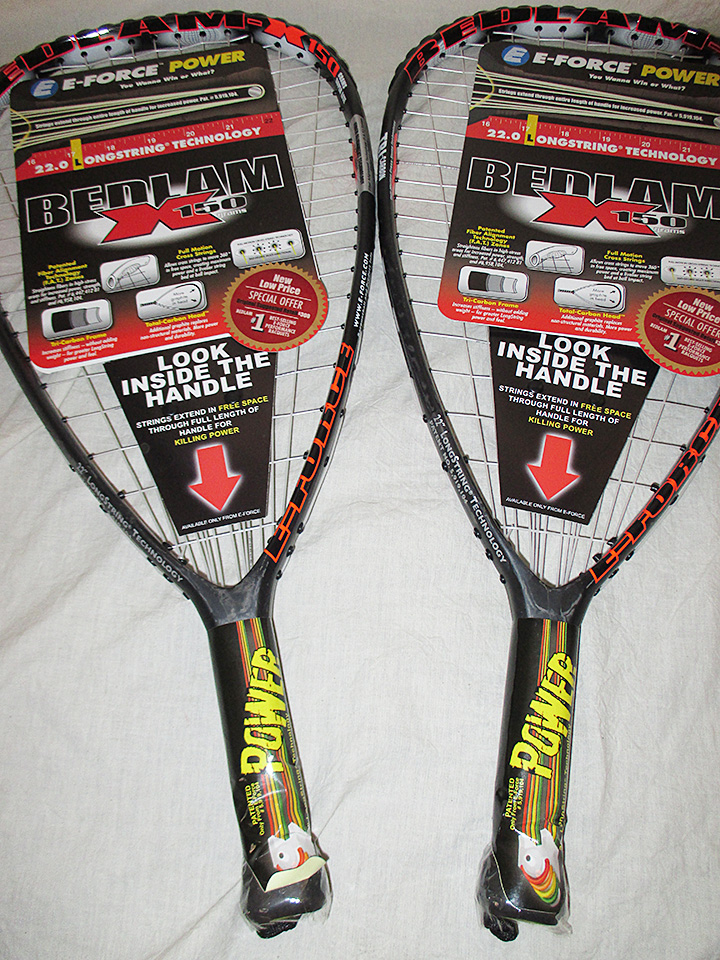 With Warranty E-Force Sector 5  160 gram Racquetball Racquet Brand New Model!