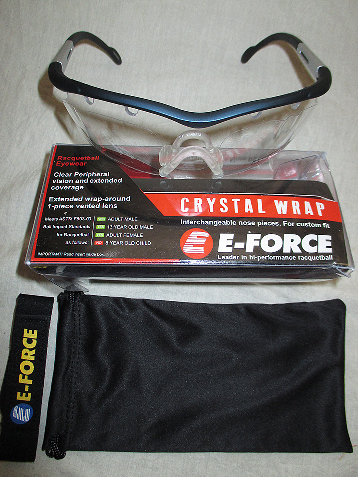 6551fc16e1 E-force Crystal Wrap Racquetball Eyewear - Racquets4Less.com