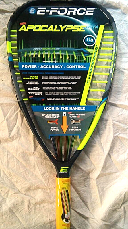 The E-Force Apocalypse Beta Racquet, all models (160g, 170g, 175g, 190g)