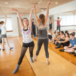 Stages dancers practicing in studio