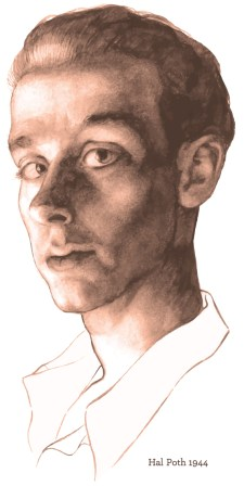 Self illustration of Hal Poth from 1944.