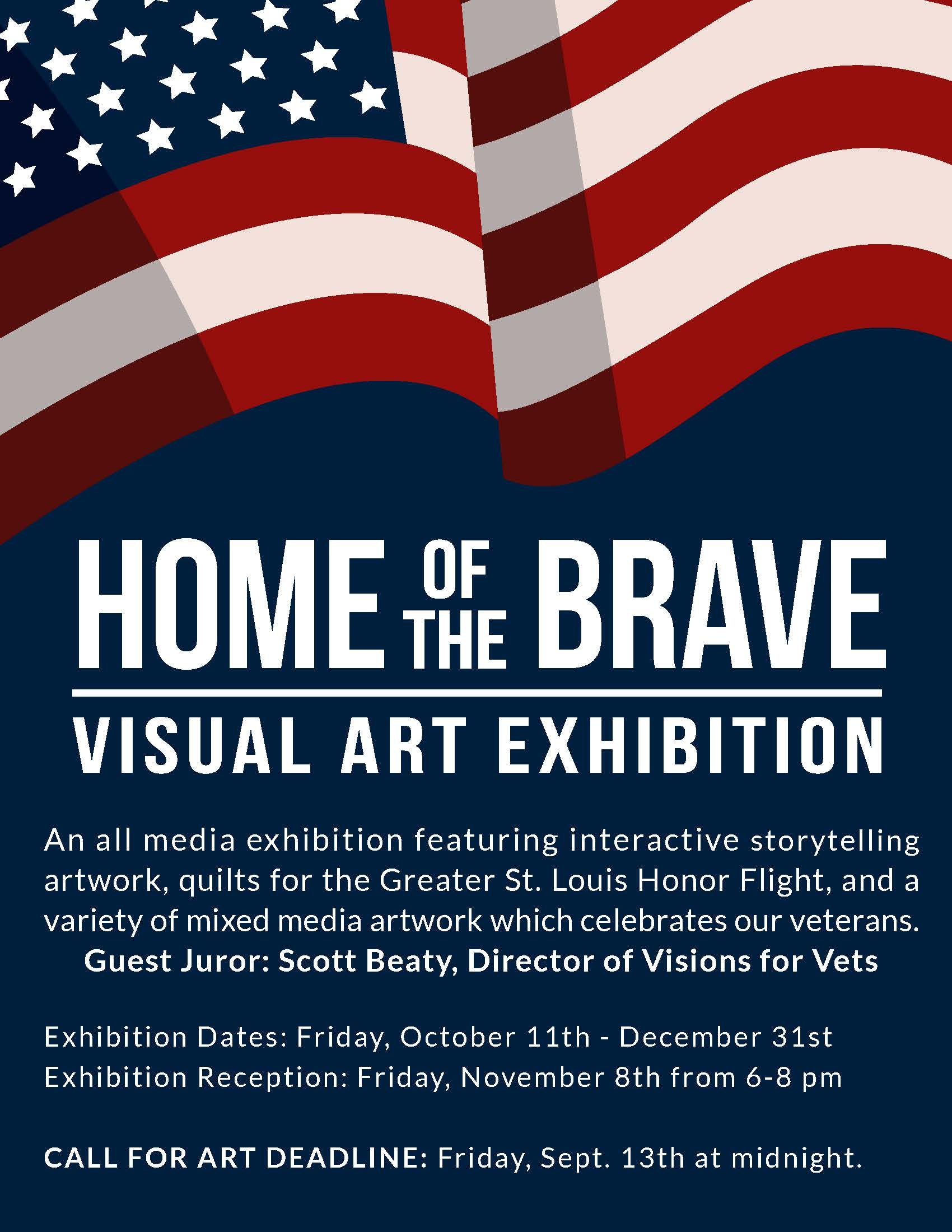 Call For Art - Home of the Brave Exhibition - Regional Arts