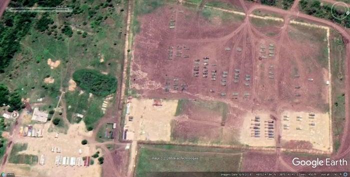 Військова база Росії під містом Хрустальний (Красний Луч) у 2018 році. Фото: glasnostgone.org