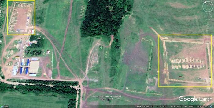 Військова база Росії під містом Чистякове (Торез) у 2019 році. Фото: glasnostgone.org