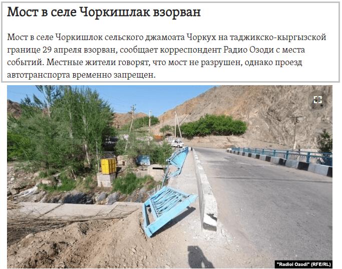 Водний конфлікт Киргизстану і Таджикистану — понад 220 поранених, 20 загиблих