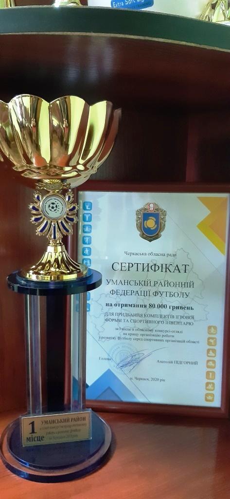 Уманська районна федерація футболу визнана найкращою в Черкаській області