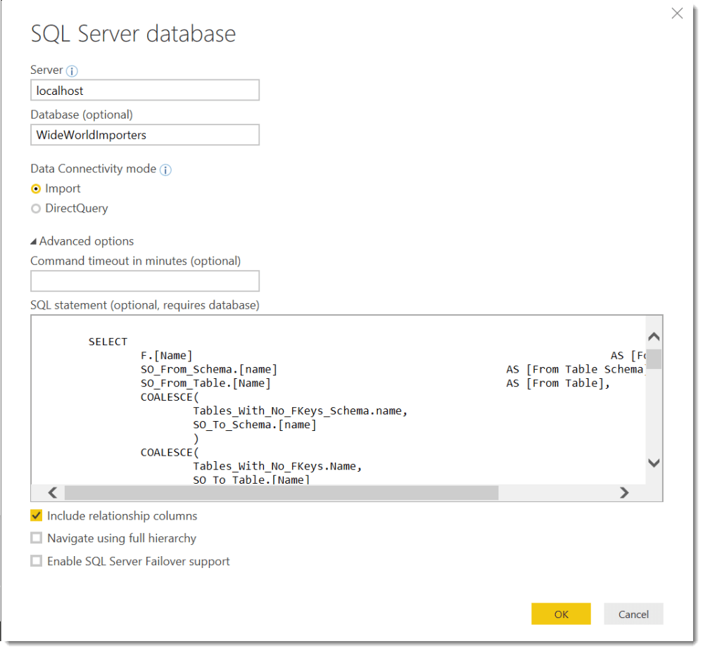 medium resolution of expand the advanced option in this dialog and enter the following sql query