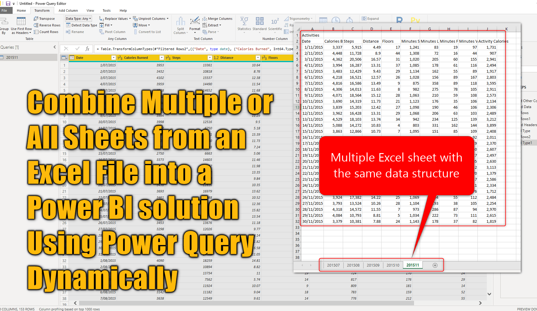 Combine Multiple Or All Sheets From An Excel File Into A Power Bi Solution Using Power Query Dynamically Radacad