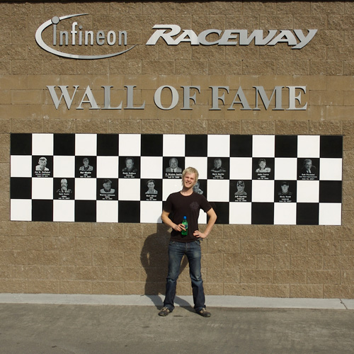 Wall of Fame of Infineon Raceway in Sonoma, California.