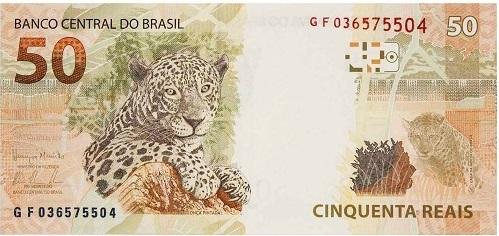 cédula de 50 reais