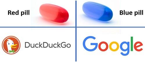 Buscadores red pill x blue pill