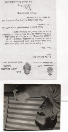 3 My father with letter of appointment.