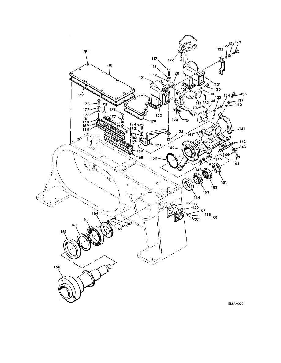 Figure 14. Drive, Antenna TG-231/TPN-18 170294-1 (Sheet 2