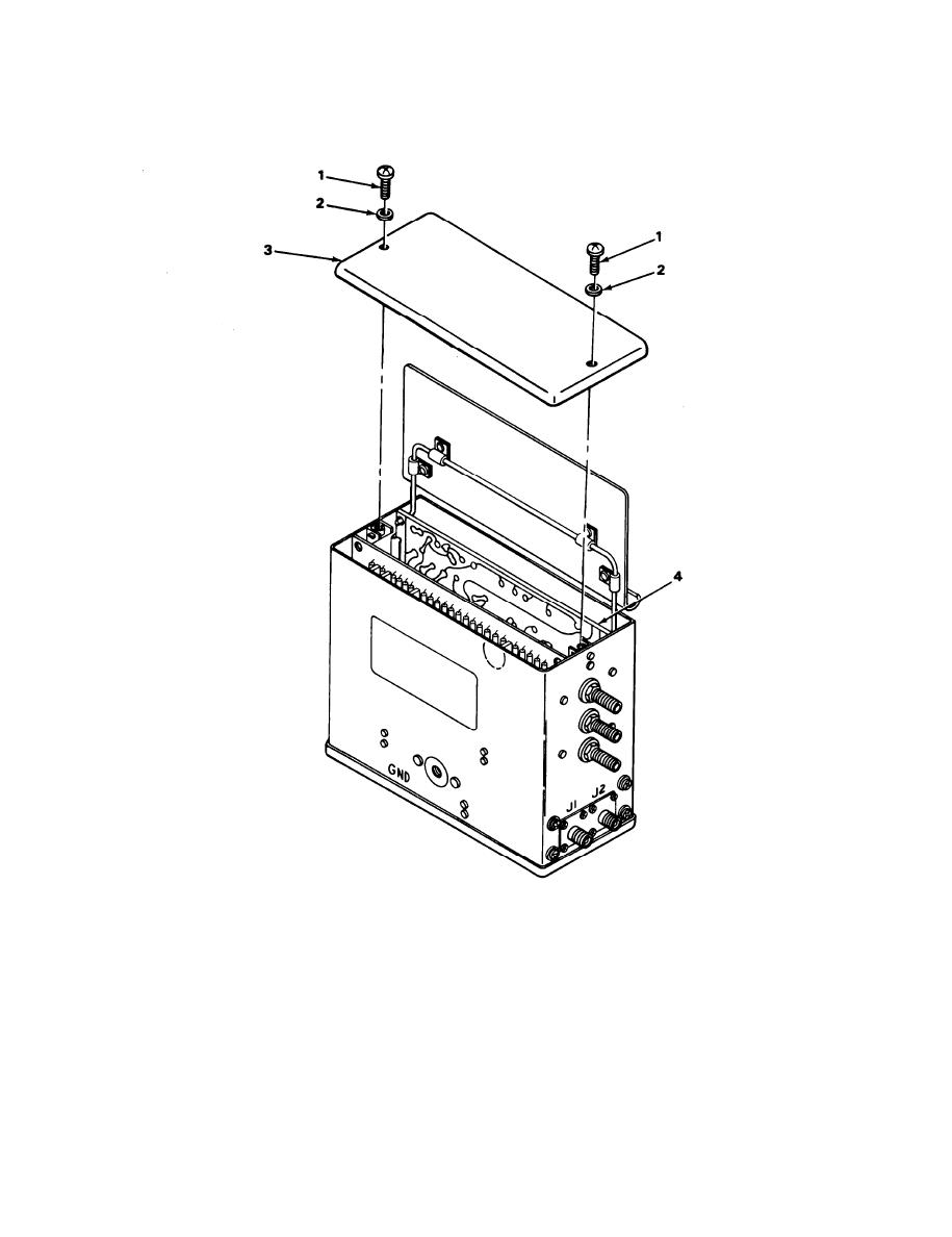 REPLACEMENT OF RECEIVER COMPRESSION AMPLIFIER CIRCUIT CARD