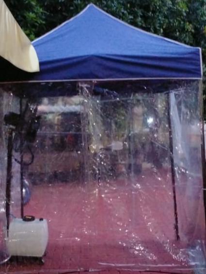 Antisipasi Penyebaran Virus Covid-19, Polsek Tanjung Duren Sediakan Ruang Sterilisasi di Pintu Masuk