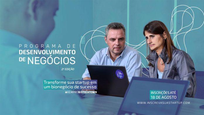 BiotechTown abre inscrições para a 2ª edição do seu Programa de Desenvolvimento de Negócios, que impulsiona o crescimento de startups e realiza investimentos de R$ 150 mil por empresa. Inscrições até o dia 18 de agosto