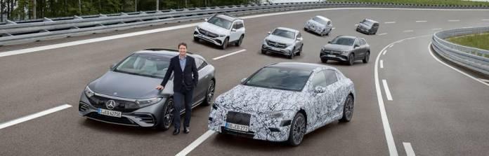Foto: apresentação de veículos elétricos da Mercedes-Benz