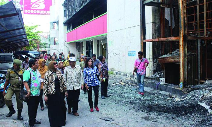 Tinjau Lokasi Pasar Banjarsari Pasca Kebakaran