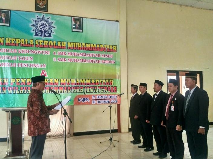 Lima Kepala Sekolah Muhammadiyah Dilantik