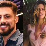Cauã Reymond e Mariana Goldfarb curtem noite de evento em clima de romance