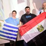 Uruguaios e egípcios se reúnem no Museu do Futebol para acompanharem confronto na Copa