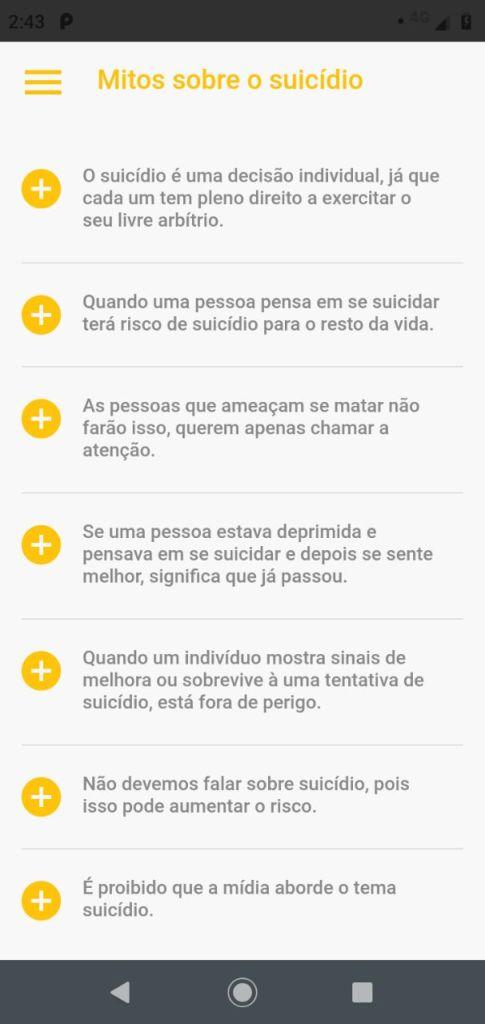 Aplicativo gratuito ajuda na prevenção de suicídio 7