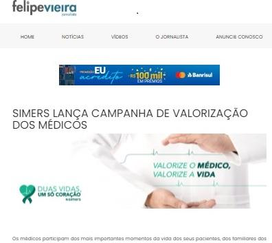 Imprensa repercute campanha do Simers pela valorização do médico 2