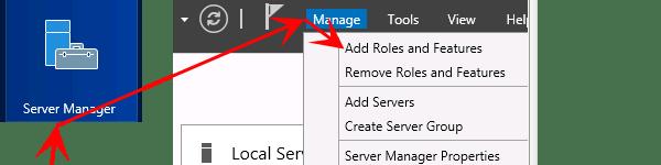 Přidání role ve windows server 2012 R2