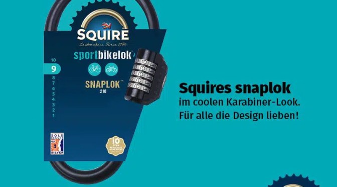 Produkttest: Squire Snaplok 260 – Das Fahrradschloss aus UK (sponsored post)