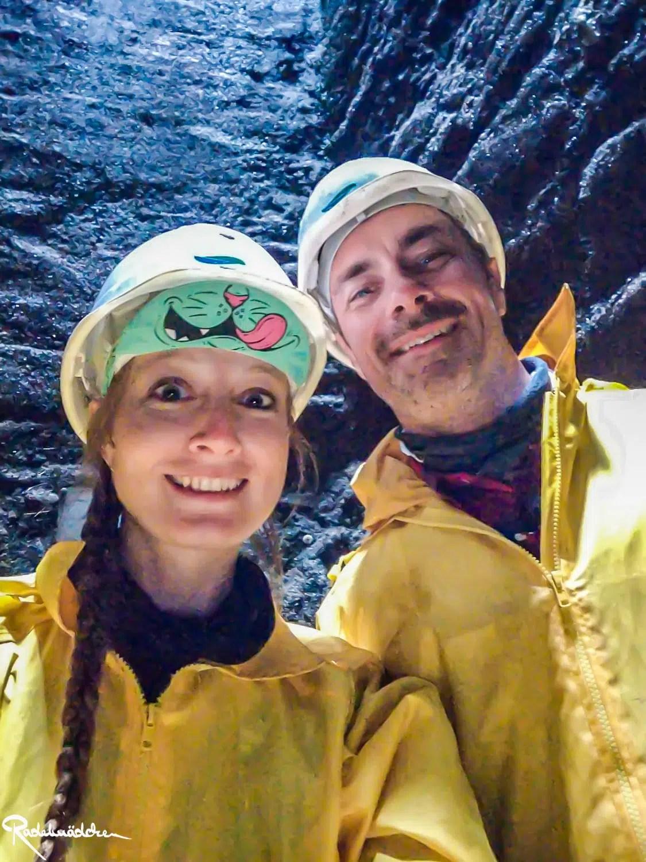 Marco und Jule im Bergbauschacht