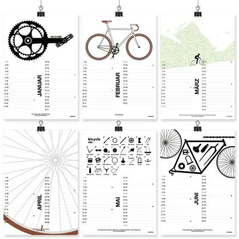 Fahrrad Kalender illustration