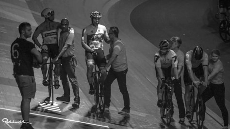 Six Day Berlin cyclists black and white