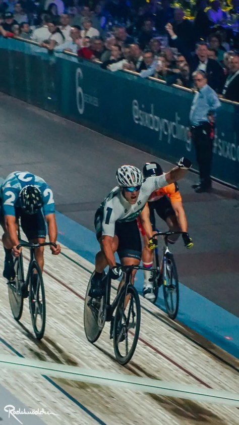Six Day Berlin cyclists on the track