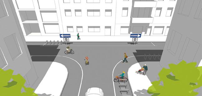 Modaler Filter durch Einbahnstraßen