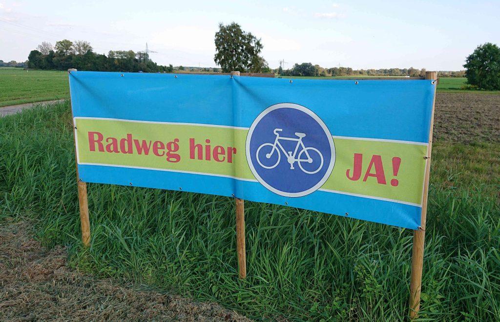 Die einwohner*innen von Sünzhausen fordern seit langem eine sichere Radwegverbindung