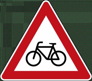 Radfahrer Gefahrenzeichen