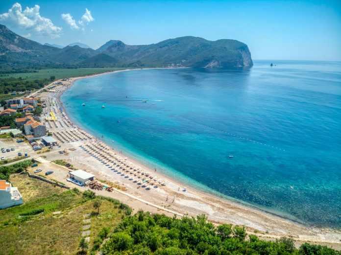 Dron fotografija: Plaža Buljarica, Budva, Profesionalni fotograf, Foto Radević