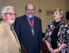 Those participating in the ceremonies at Central United Methodist Church Dec. 3 were (from left) building chair Bill Cook, Pastor Dale Gilbert, and Rev. Kim Goddard.