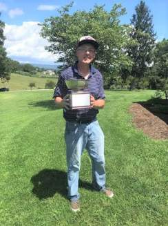 The senior division of the Blacksburg tournament was won by Randy Mullins (pictured) with a two-day total of 144 (four over par). He overcame a one-stroke deficit on Sunday and beat defending senior champion Roger Robinson, who shot 147. Byron Shankma claimed third place in the senior division.