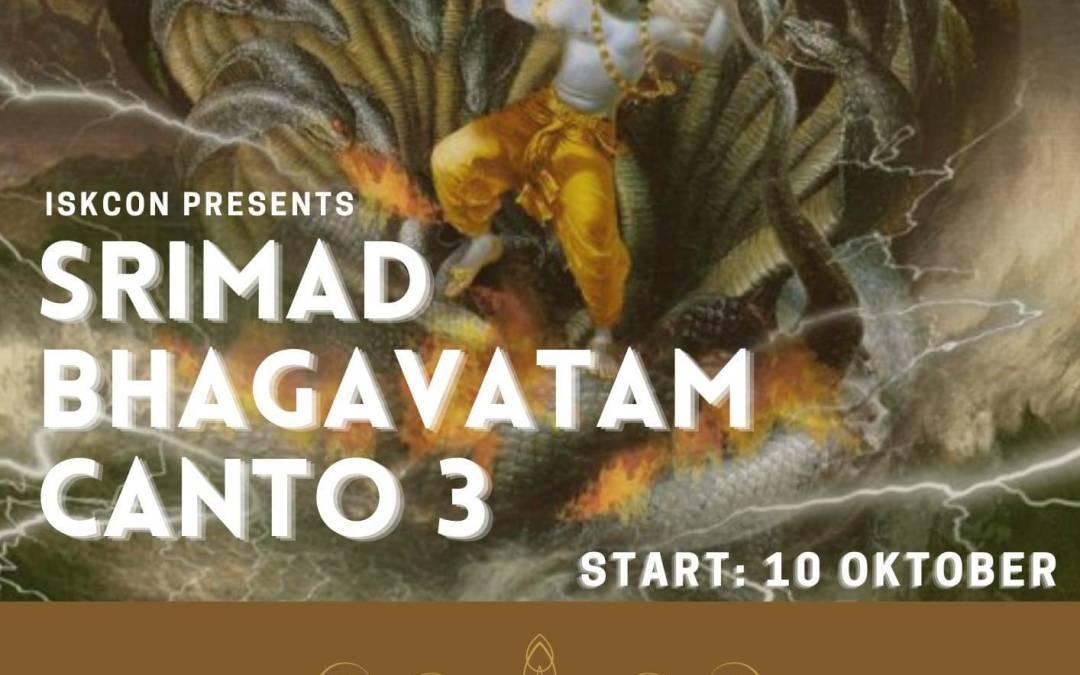 Nieuw! Online Cursus: Srimad Bhagavatam Canto 3 NL