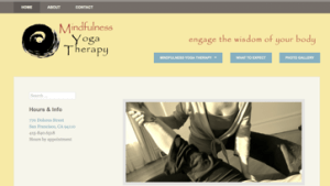 Mindfulness Yoga Therapy web site image