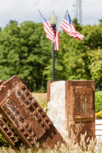 Remnants of the World Trade Center twin towers at the Eagle Rock 9/11 Memorial in New Jersey