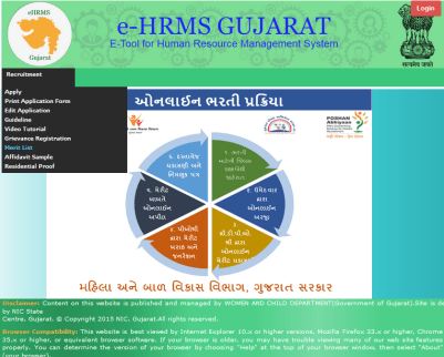 How to Check Merti List on e-hrms.gujarat.gov.in