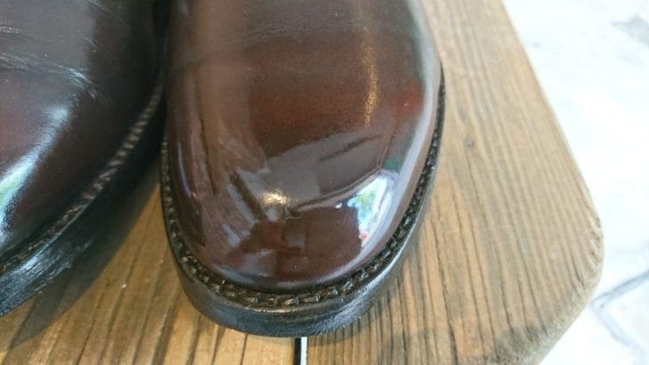 Aldenの靴磨き・鏡面磨きで仕上げました