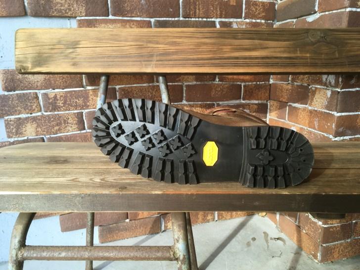 vibram132の一体化したソールに交換したティンバーランドのブーツ